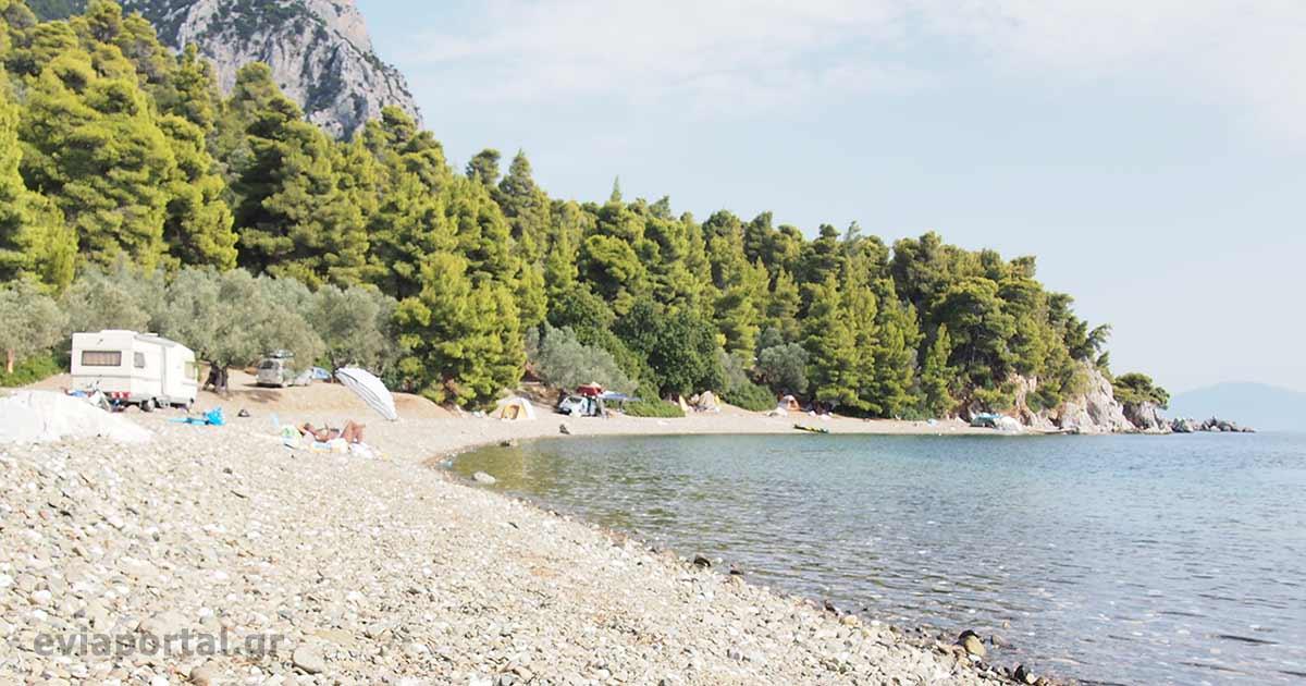 Παραλία Μονής Γαλατάκη στην Λίμνη Εύβοιας