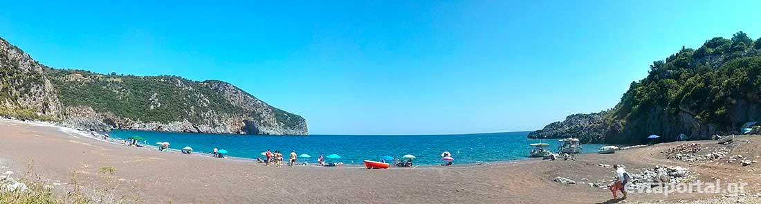 Παραλία Λιμνιώνας Κεντρικής Εύβοιας - Δεξί τμήμα