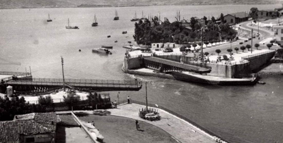 """Η """"Ιταλική"""" γέφυρα Ευρίπου στη Χαλκίδα"""