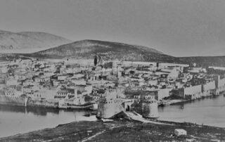 Άποψη της Χαλκίδας μετά την απελευθέρωση από τους Οθωμανούς και πριν το γκρέμισμα των τειχών