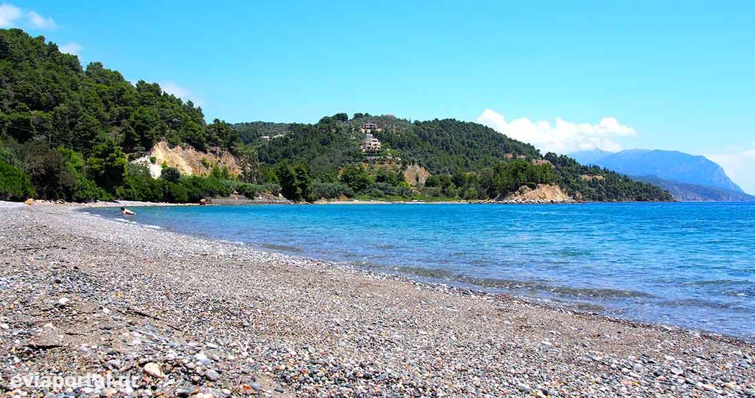 Παραλία Κοχύλι στην Λίμνη Ευβοίας