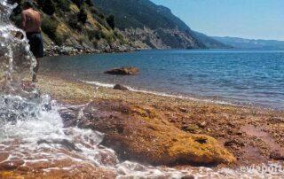 Παραλία Θερμά Λουτρά στα Ήλια Εύβοιας