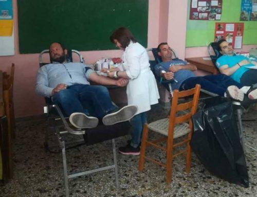 Πραγματοποιήθηκε η εθελοντική αιμοδοσία στην Ευαγγελίστρια Κανήθου