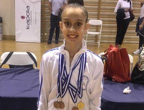 Η αθλήτρια της ρυθμικής από την Δροσιά, Μαρίζα Ελευθερίου έλαβε 4 μετάλλια στο Πανελλήνιο Πρωτάθλημα