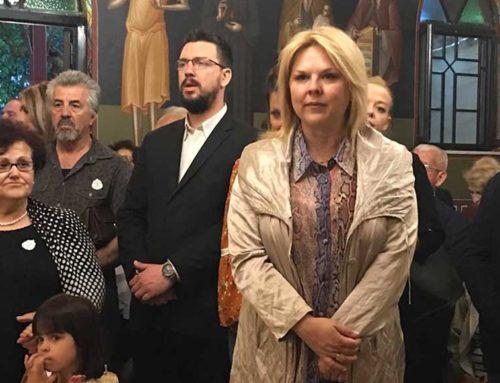 Στον Ιερό Ναό Αγίων Κωνσταντίνου και Ελένης και στον Ιερό Ναό Παμμεγίστων Ταξιαρχών η Έλενα Βάκα