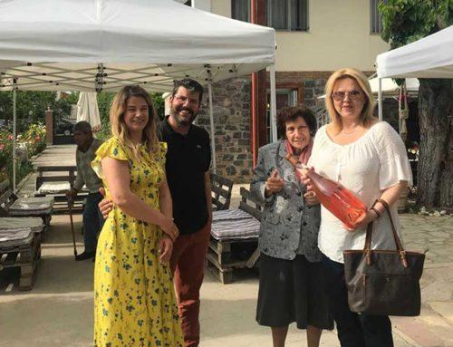 Στη Νέα Αρτάκη και στο Κτήμα Αβαντίς βρέθηκε η Έλενα Βάκα