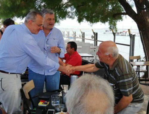 Την Παραλία Αυλίδας επισκέφθηκε ο Θανάσης Ζεμπίλης