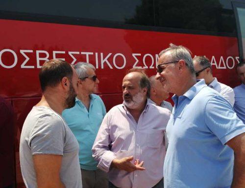 Στις πληγείσες από τη φωτιά περιοχές ο Μίλτος Χατζηγιαννάκης