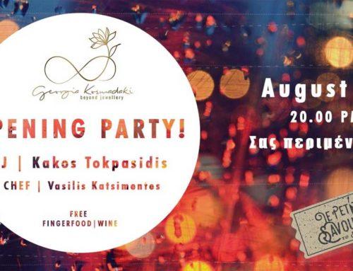 Opening party με τις χειροποίητες δημιουργίες της Georgia Kosmadaki στην Χαλκίδα 🗓