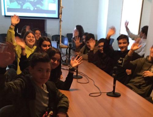 Τηλεδιάλεξη με «Συμπαντικές Περιπλανήσεις» μεταξύ 6ου Γυμνασίου Τρικάλων και 6ου Γυμνασίου Χαλκίδας στην Εστία Γνώσης Χαλκίδας