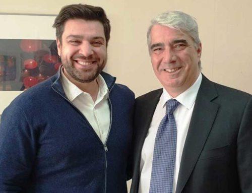 Στο πλευρό του νέου διοικητή του Νοσοκομείου Χαλκίδας, ο Σίμος Κεδίκογλου