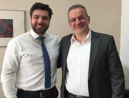 Συνάντηση του Θ. Ζεμπίλη με τον νέο Διοικητή του Νοσοκομείου Χαλκίδας