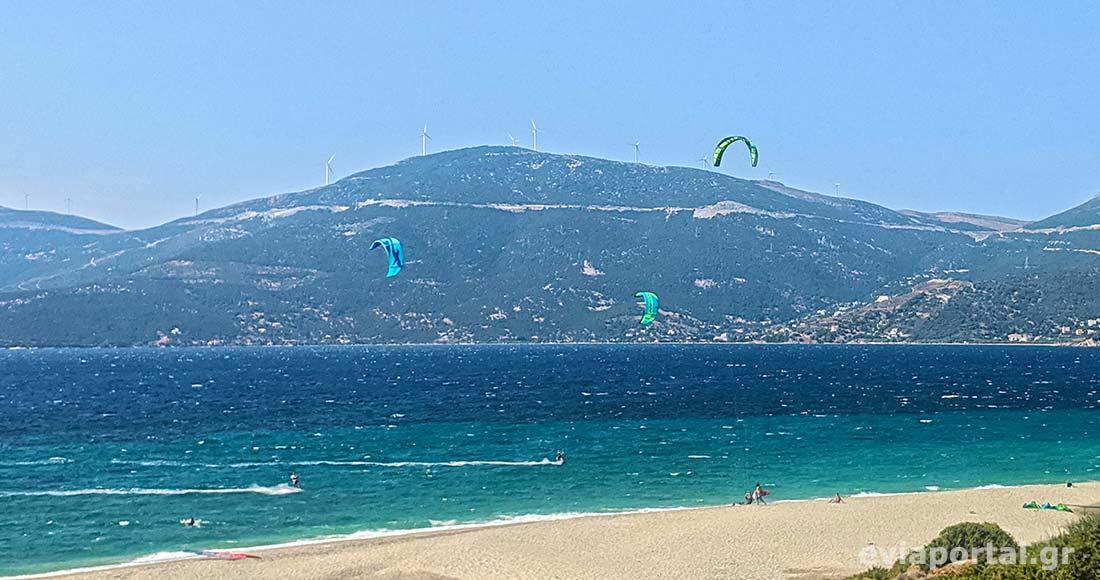 Παραλία Μεγάλη Άμμος, ο παράδεισος των Kite Surfers