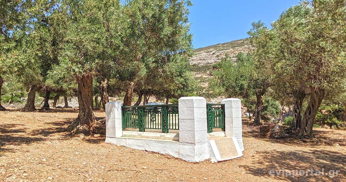 Ο τάφος του Ρούπερτ Μπρουκ, στον όρμο 3 μπούκες στην Σκύρο
