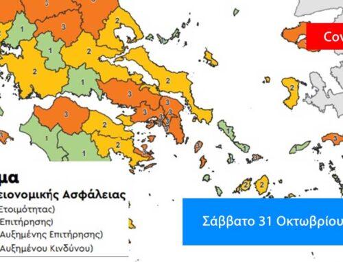 Τρία νέα κρούσματα στην Εύβοια, 2.056 κρούσματα πανελλαδικά το Σάββατο 31 Οκτωβρίου