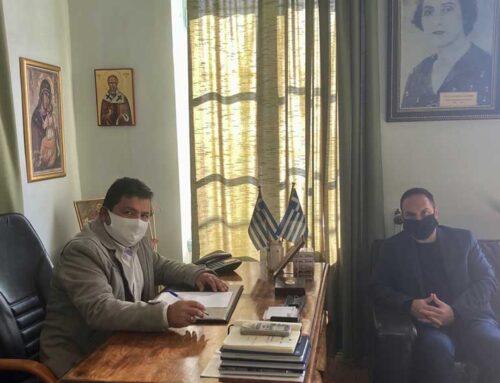 Συνάντηση του Μ. Χατζηγιαννάκη με τον Δήμαρχο Μαντουδίου-Λίμνης-Αγ. Άννας