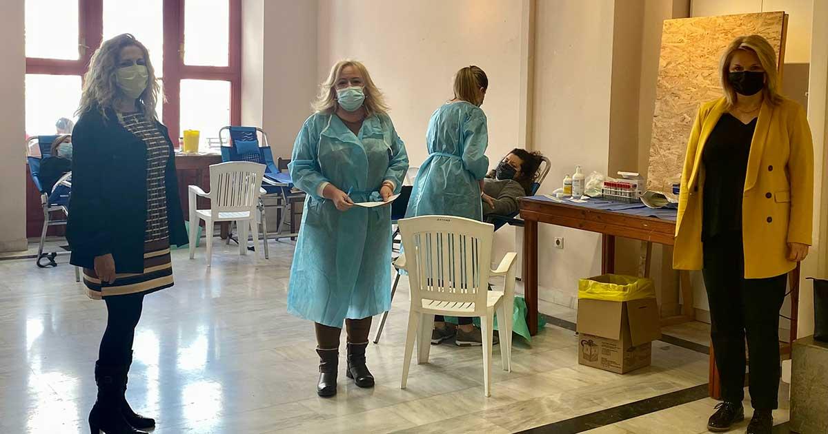Πραγματοποιήθηκε η εθελοντική αιμοδοσία του Δήμου Χαλκιδέων