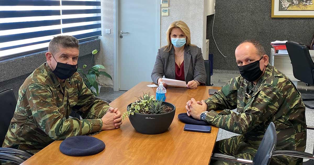 Με τον νέο Διευθυντή Πεζικού και τον νέο Διοικητή της Σχολής Πεζικού Χαλκίδας συναντήθηκε η Δήμαρχος Χαλκιδέων