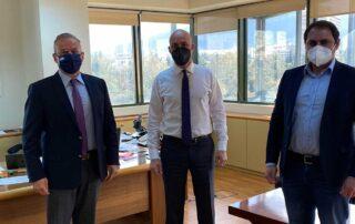 Συνάντηση Θ.Ζεμπίλη και Γ.Μανώλη με τον Υφυπουργό Περιβάλλοντος για το ιδιοκτησιακό στην Κάρυστο