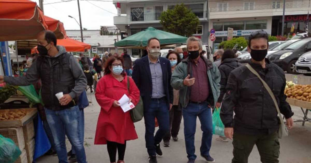 Η Νομαρχιακή Επιτροπή Εύβοιας του ΣΥΡΙΖΑ, επισκέφθηκε την λαϊκή αγορά του Σαββάτου της Χαλκίδας